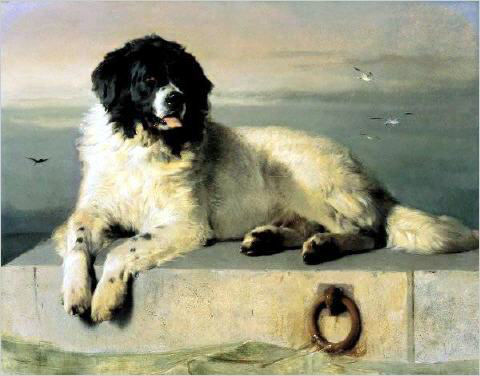 A painting of a Landseer by Landseer