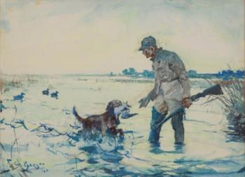 benson hunter with retriever