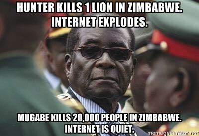 mugabe lion