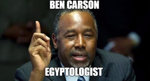 ben carson egyptologist