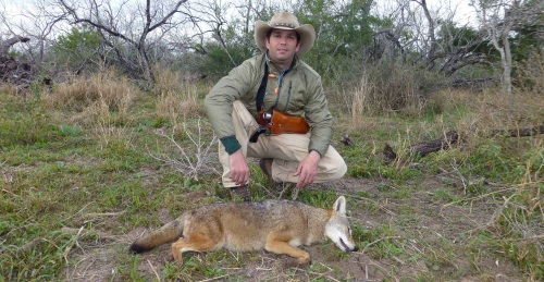 Trump Jr with coyote he killed